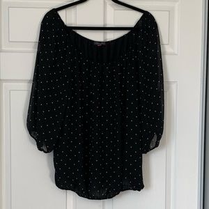 2for25/ Vince Camuto dark polka dot chiffon blouse